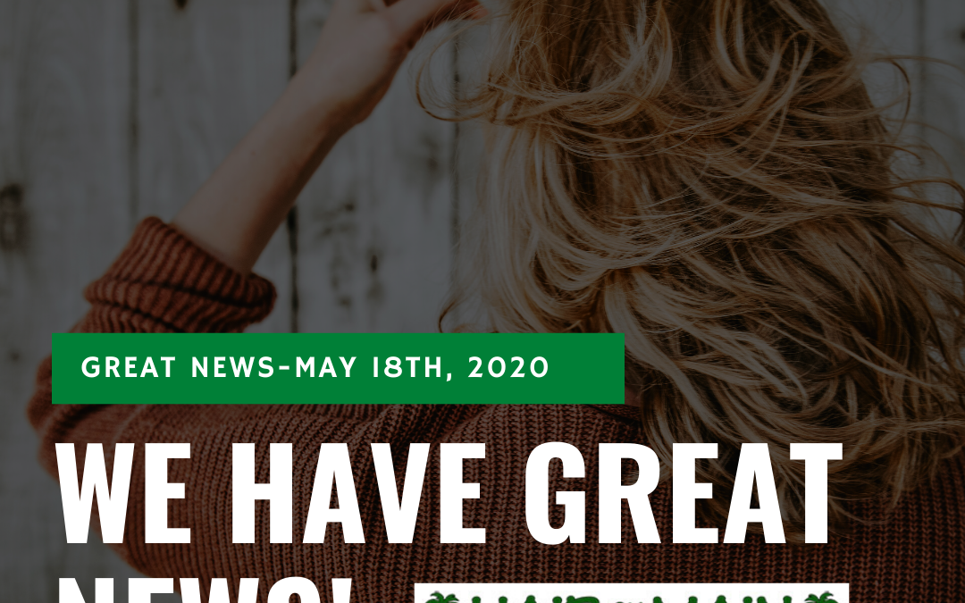 COVID-19 – May Update:  Please Read